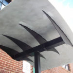 Painted aluminum canopy support with brush finish aluminum canopy 3